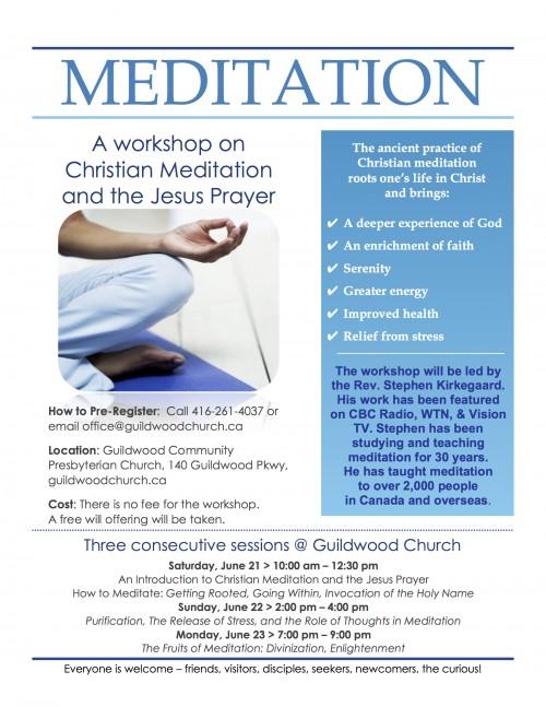 Meditation poster 2014