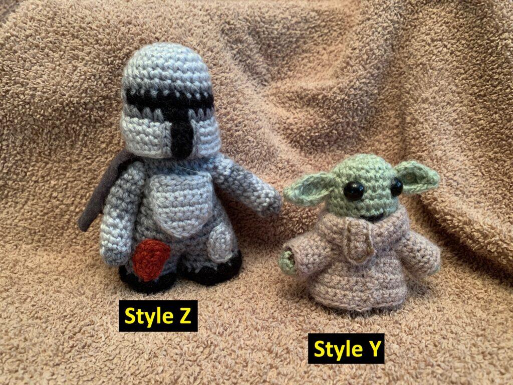 Crocheted Disney The Mandalorian figures
