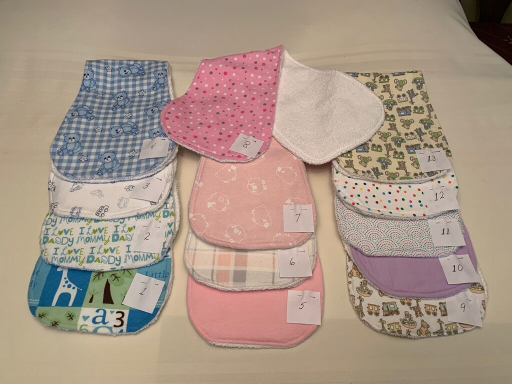 patterned fabric cloths for burping babies