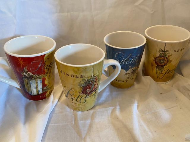 4 Christmas mugs