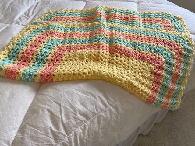 rectangular crocheted lap quilt